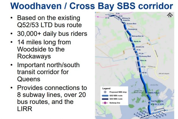 DOT Says Select Bus Service Along Woodhaven and Cross Bay Boulevards Q Bus Map on